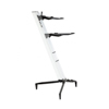 Keyboard Stand TOWER 130cm - 2-Tiers, 4 Arms - White