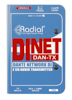 Radial Engineering Dinet DAN-TX Dante transmitter, stereo DI inputs & digital out
