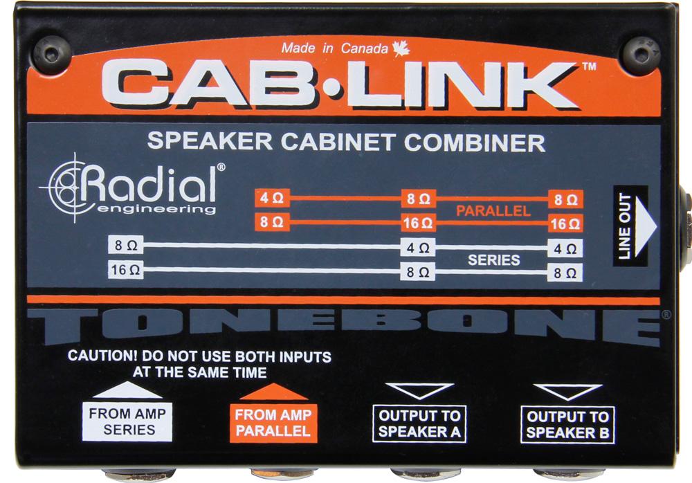 Radial Engineering Tonebone Cablink Passive Spkr cab merger for 2 gtr cabs