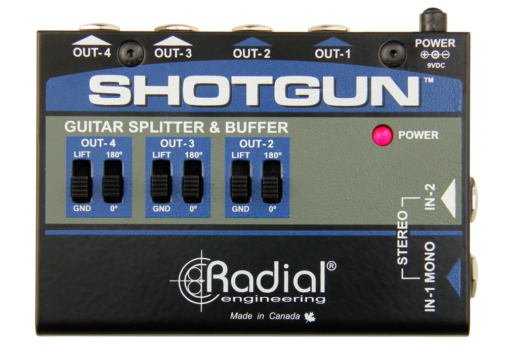 Radial Engineering Tonebone Shotgun With Leds Instrument Buffer & Splitter