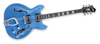 Hagström Viking Deluxe Custom - Miami Blue Metallic