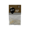 Pearloid White Picks, 12 Pack, Heavy