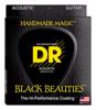 DR Strings Black Coated Acoustic 10-48