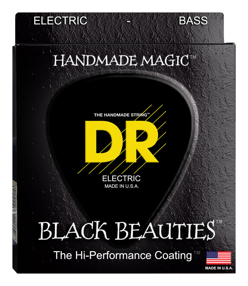 DR Strings BLACK. Medium 5's
