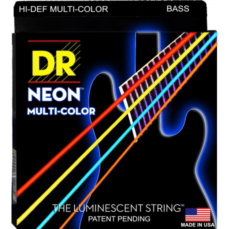 DR Strings Multi-Color Coated Bass Medium 6 String 30-125