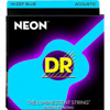 DR Strings NEON Blue Acoustic Lite 10-48