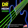DR Strings NEON Green Bass Guitar Strings 50-110