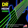 NEON Green Electric Guitar Strings 7 String Lite 9-52