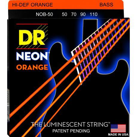 DR Strings Neon Orange Bass 50-110