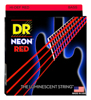 DR Strings Neon Red Bass Heavy 5's 45-125