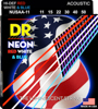 DR Strings Neon USA Acoustic Lite 10-48