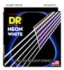 DR Strings Neon White Acoustic Medium 12-54