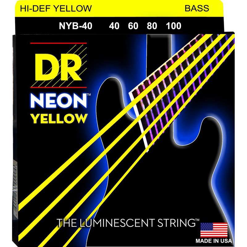 DR Strings Neon Yellow Bass Lite