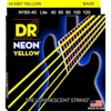 DR Strings Neon Yellow Bass Lite 5's 40-120