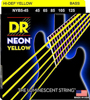 DR Strings Neon Yellow Bass Heavy 5's 45-125