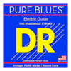 DR Strings PURE BLUES Pure Nickel Electric Big - Heavy 10-52