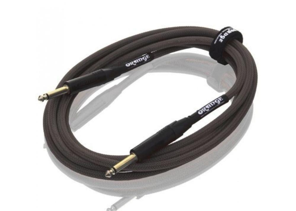 Orange 20 ft Instrument Cable BLK