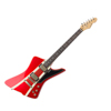 Sandberg 48 Guitar Metallic Red/ Creme stripes So