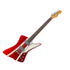 Sandberg Forty Eight Guitar Metallic Red/Stripes Soft Aged White dots