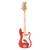 Jay Turser 3/4 Bas Trad. P Style, Split Pickup, Trans Red