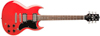 Jay Turser Gitarr Double Cut. Maple set neck, Dot inlays, Trans Red