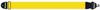 Axelband Bas, bredd 8cm, gul, tryckt Rockstrap logo