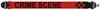 Axelband Bas, bredd 8cm, rˆd, tryckt Crime Scene motiv