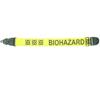 Warwick Axelband Gitarr, bredd 5cm, gul, tryckt Biohazard motiv