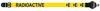 Warwick Axelband Gitarr, bredd 5cm, gul, tryckt Radioactive motiv