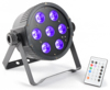 Beamz LED FlatPAR 7 x 18W 6-1 RGBAW UV IR