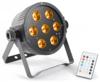 Beamz LED FlatPAR 7 x 15W 5-1 RGBAW IR