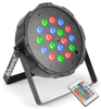 Beamz LED FlatPar 18x1W RGB, Battery, DMX, IRC
