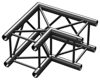 BeamzPro P30-C21B Truss 2 way corner 90'  0,5m Black