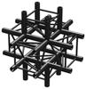BeamzPro P30-C60B Truss 6 way T-junction 0,5m Black