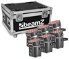 BeamzPro BBP60 Uplighter Set 6pcs 9x12W 6in1 wrless Charg.Case