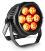 BeamzPro BWA410 LED AluPAR IP65 7x10W 4in1 RGBW DMX