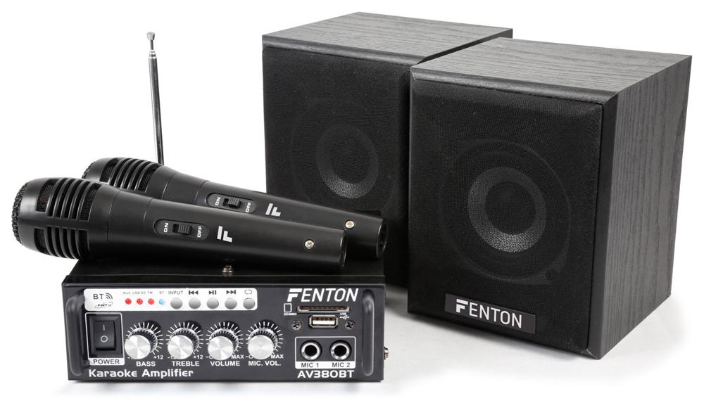 Fenton AV380BT Set Amp MP3/BT, 2 speakers, 2 micro