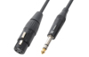 Cable XLR Female-6.3 Stereo 0,15m