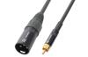Cable XLR Male -RCA Male 3.0m