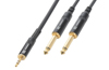 PD Connex Cable 3.5 Stereo-2x6.3 Mono 3.0m