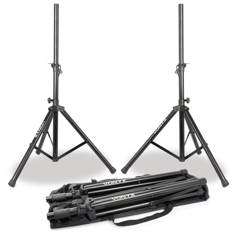 Vonyx Kit 2x Speakerstand in Bag 1.75m 30kg