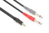 Vonyx Cable 3.5 Stereo-2x6.3 Mono 1,5m