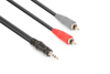 Cable 3.5 Stereo- 2xRCA Male 1.5m