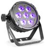 Beamz BT280 LED Flat Par 7 x 10W RGBWA-UV 6-1 DMX IRC