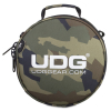 UDG Digi Headphone Bag Black Camo Orange inside