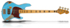 Sandberg Cal TM4 Marley Blue HA Aged Maple FB Black block inlays Tortoise PG
