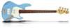 Sandberg California TM4 Gloss Marley Blue, Alder body, Pau Ferro FB, Mint PG