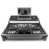 UDG Flight Case Pioneer DDJ-800 Silver Plus (Laptop shelf)