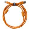 UDG USB 2.0 A-B Orange Straight 1m