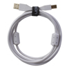UDG USB 2.0 A-B White Straight  1m